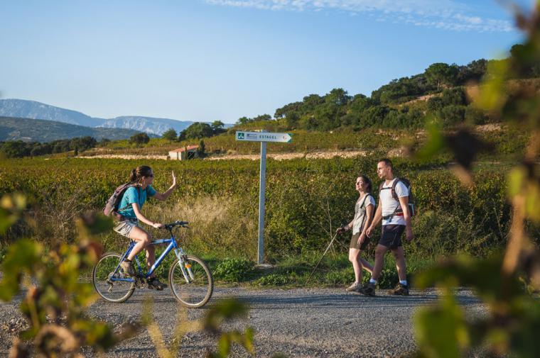 Vélo et rando - crédit Lionel Moogin - Agly Tourisme